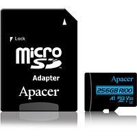 Карта памяти Apacer AP256GMCSX10U7-R 256GB + адаптер