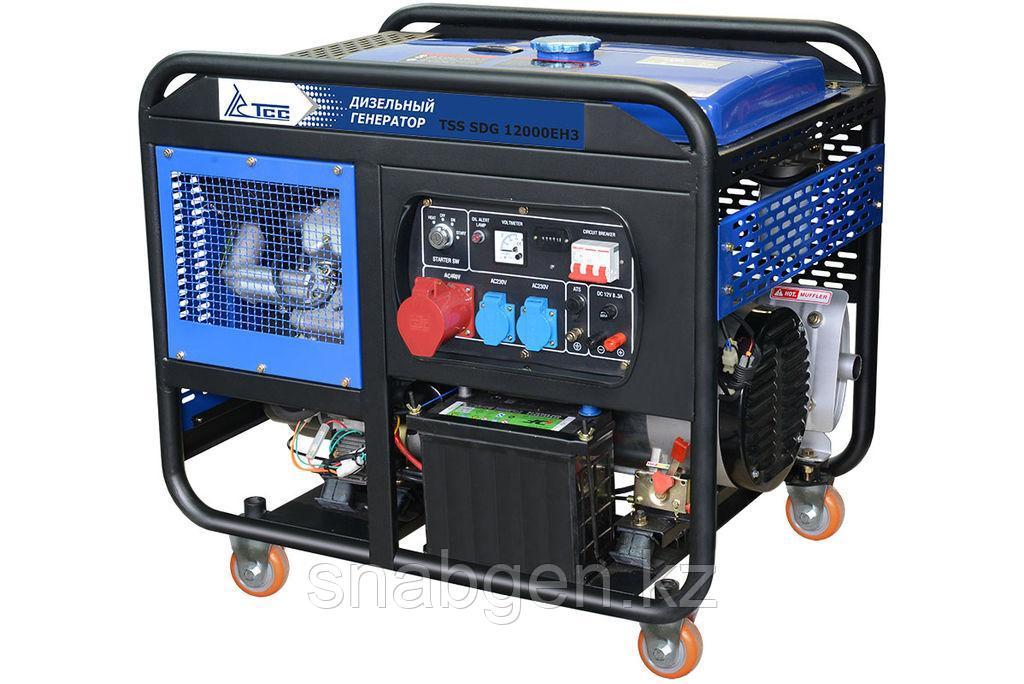 Дизель, дизельный генератор TSS SDG 12000EH3 12 кВт 380В, передвижной