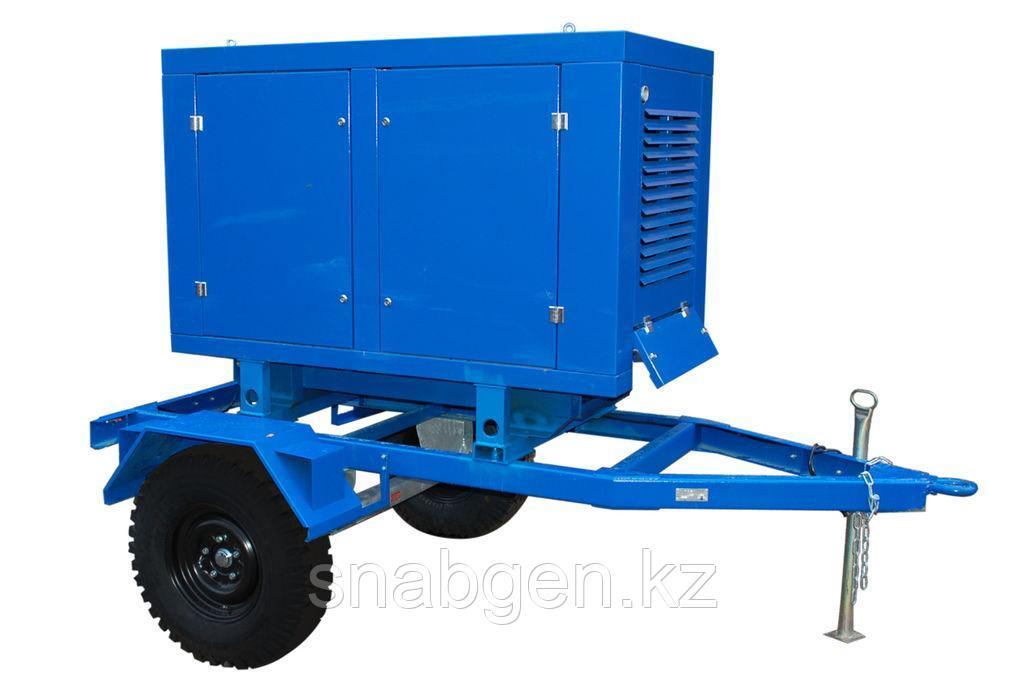 Передвижной дизельный генератор ТСС ЭД-30-Т400-1РПМ11 в погодозащитном кож
