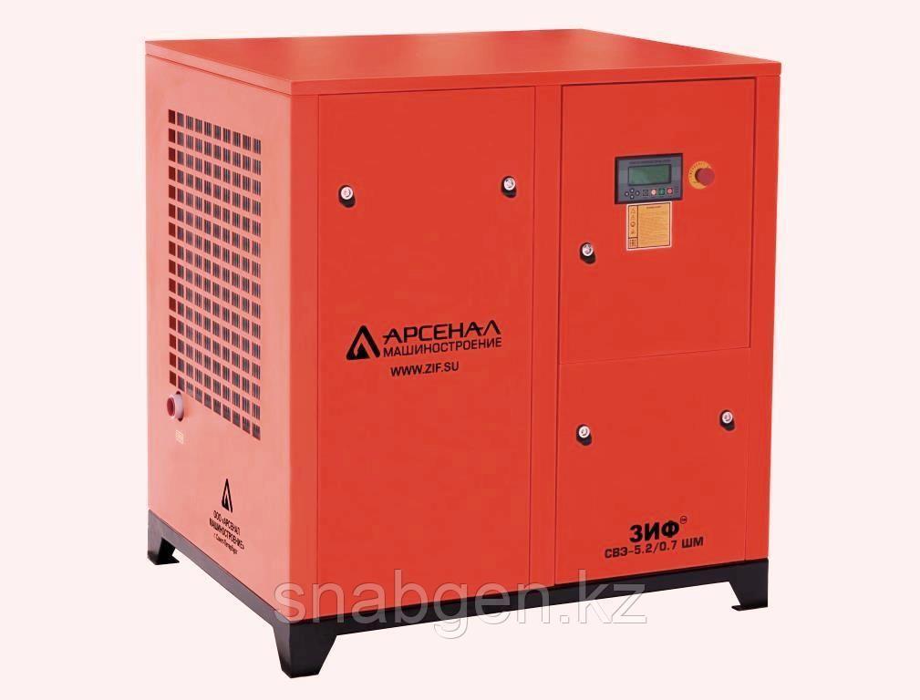 Станция компрессорная электрическая ЗИФ-СВЭ-5,2/0,7 ШМЧ ременная с ЧРП