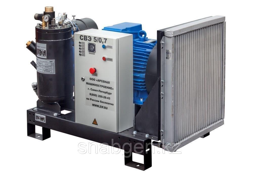 Станция компрессорная электрическая ЗИФ-СВЭ-5,2/1,0 без кожуха