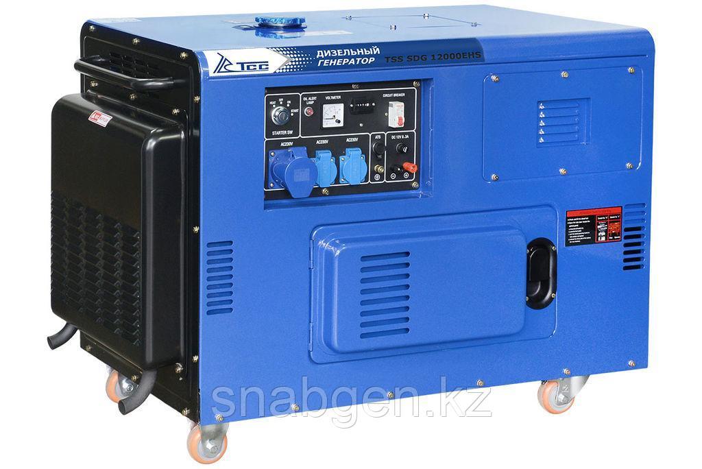 Дизель, дизельный генератор TSS SDG 12000EHS 12 кВт 220В, передвижной