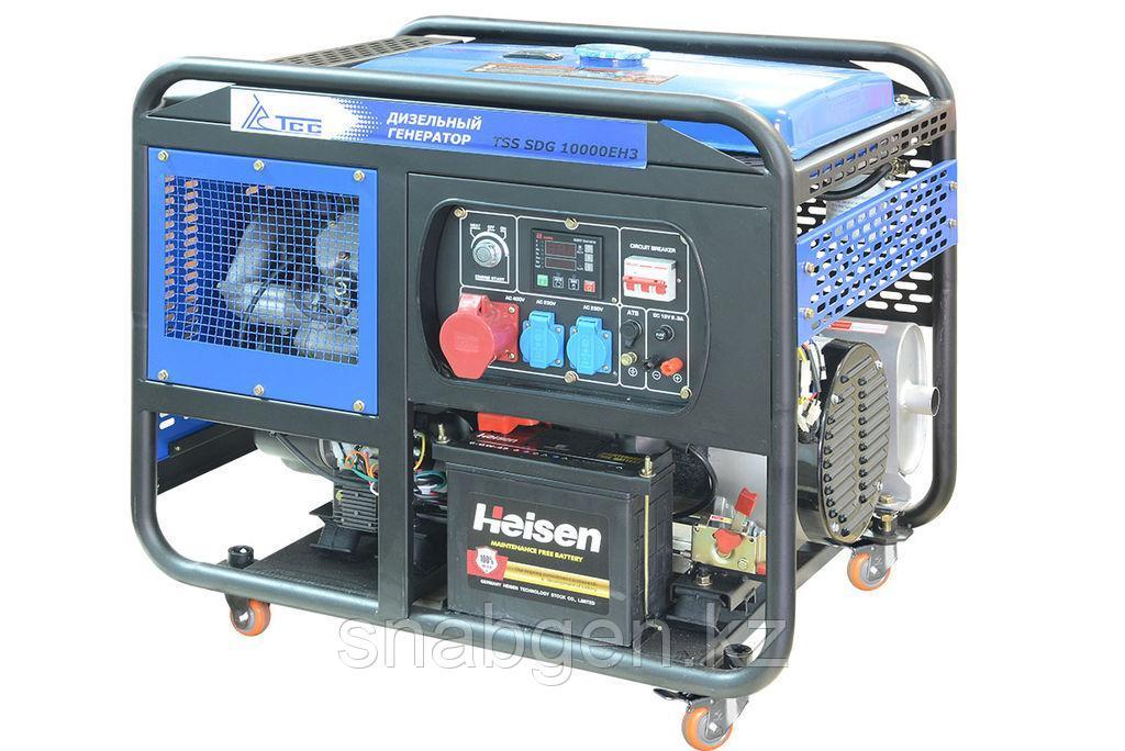 Дизель генератор TSS SDG 10000EH3 (электронная панель) с АВР