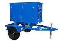 Передвижной дизель-генератор на шасси ТСС ЭД-16С-Т400-1РПМ11 в кожухе