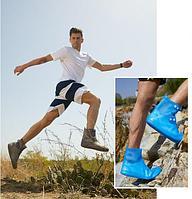Бахилы силиконовые антискользящие прозрачные водонепроницаемые (дождевики для обуви)