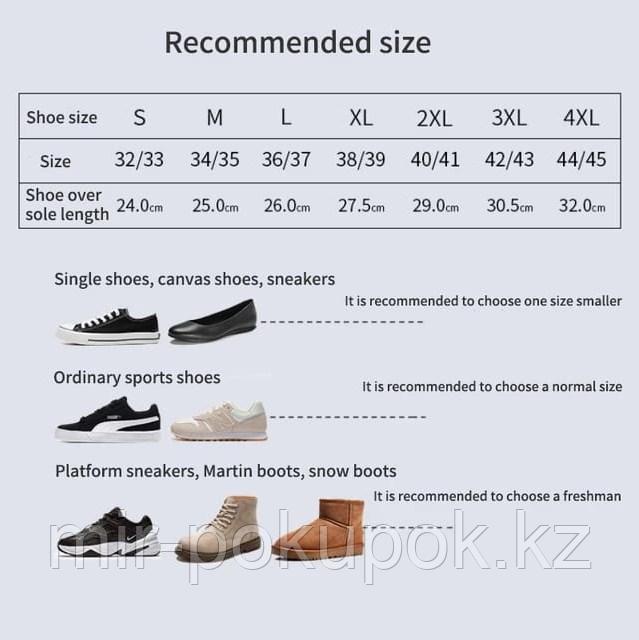 Бахилы силиконовые антискользящие прозрачные водонепроницаемые (дождевики для обуви) - фото 6