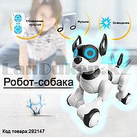 Игрушка Робот собака на батарейках танцующая музыкальная на радиоуправлении JZL 20173-1