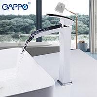 Смеситель для раковины GAPPO высокий, корпус белый/хром, G1007-31, фото 1