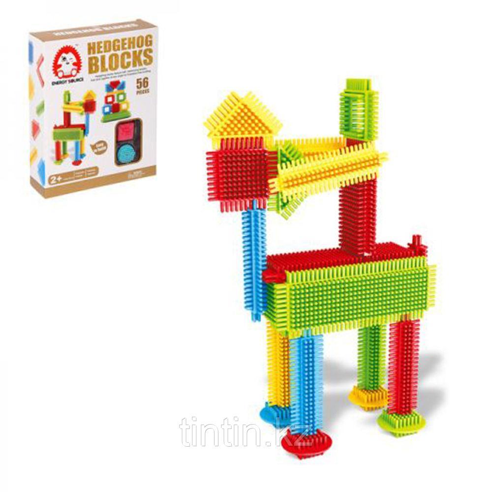 Детский Конструктор Ёжики - Hedgehog Blocks 56 деталей