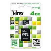 Mirex microsdhc 4gb с адаптером class 10
