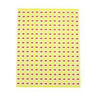 Гарантийные наклейки круглые с рисунком стрелки (714 стикеров), красные