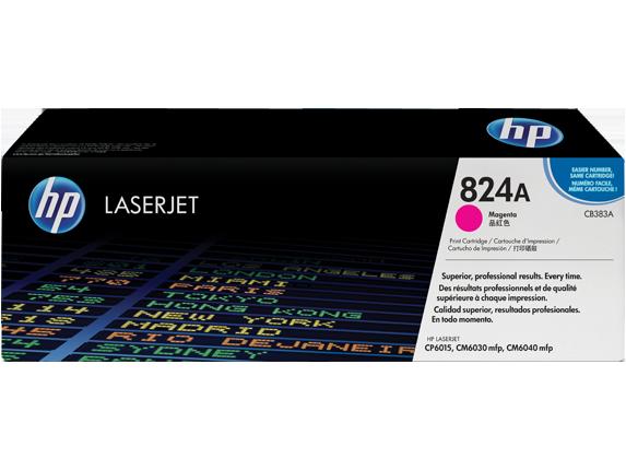 HP CB383A Картридж лазерный HP 824A пурпурный, ресурс 21000 стр