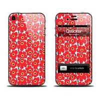 Наклейка qsticker apple iphone 4/4s, marimekko red
