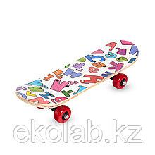 Скейтборд 43x13 с разноцветными рисунками
