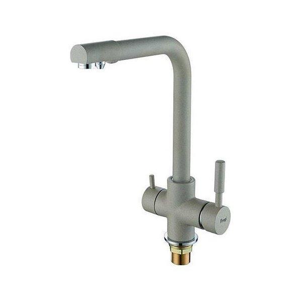 Смеситель для кухни FRAP 2 в 1 c подключением к фильтру, F4352-22 Темно-серый
