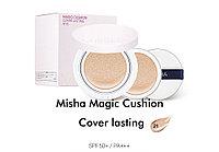 Кушон с экстрактом зеленого чая Missha Magic Cushion Cover Lasting SPF50+/PA+++ (Тон №21 со сменным блоком)