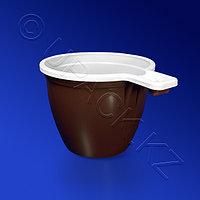 Kazakhstan Чашка кофейная 180мл PP коричнево-белая 50шт/уп