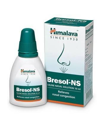 Капли спрей для носа Бресол NS, против аллергии, Himalaya , 10 мл