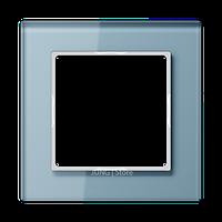 AC Рамка 1-ная, стекло голуб.