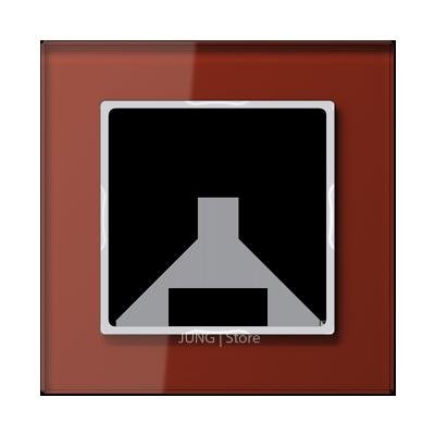 AC Рамка 1-ная, стекло красн.