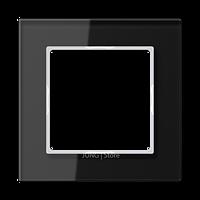 AC Рамка 1-ная, стекло чёрн.