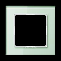 AC Рамка 1-ная, стекло бел. матовое