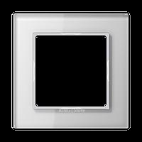 AC Рамка 1-ная, стекло бел.
