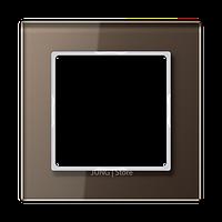 AC Рамка 1-ная, стекло цвет мокко