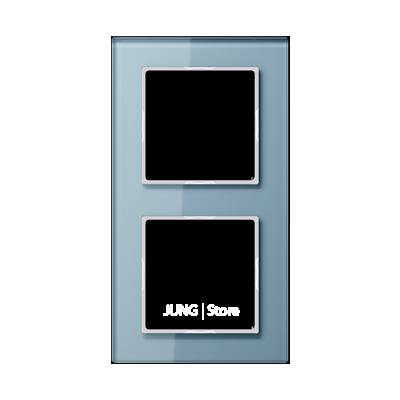 AC Рамка 2-ная, стекло голуб.
