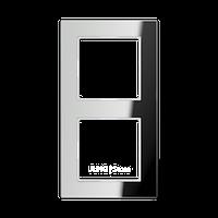 AC Рамка 2-ная, стекло серебро зерк.