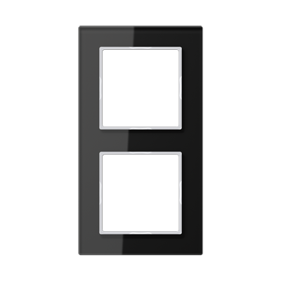AC Рамка 2-ная, стекло чёрн.