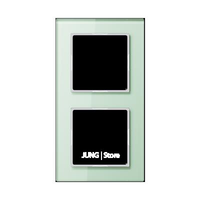 AC Рамка 2-ная, стекло бел. матовое