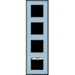AC Рамка 4-ная, стекло голуб.