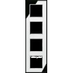 AC Рамка 4-ная, стекло серебро зерк.