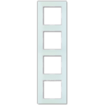 AC Рамка 4-ная, стекло бел. матовое