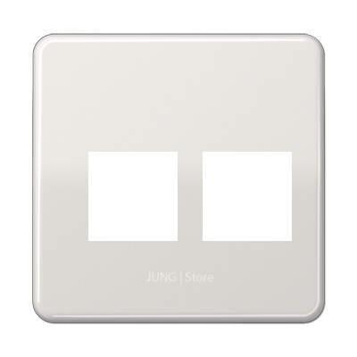 CD500 Накладка для комп. розетки 2хRJ45, светло-сер.