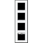 AC Рамка 4-ная, стекло бел.