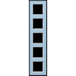 AC Рамка 5-ная, стекло голуб.
