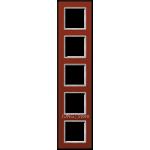 AC Рамка 5-ная, стекло красн.
