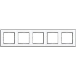 AC Рамка 5-ная, стекло бел.