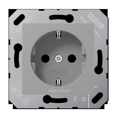 SCHUKO®-розетка 16 A / 250 B ~ для откидной крышки