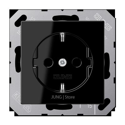 A500 Розетка 2К+З 16А 250В~, чёрн.