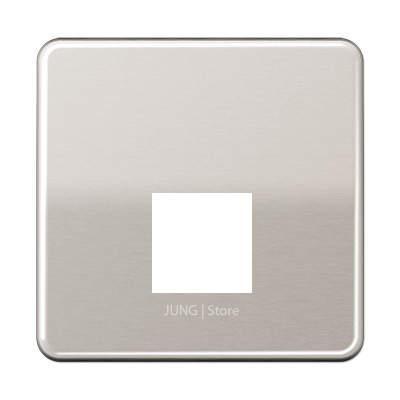 CD500 Накладка для комп. розетки 1хRJ45, платин.