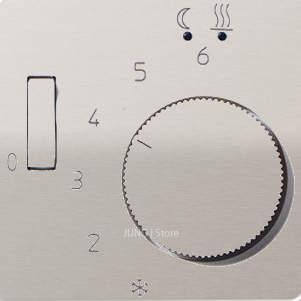 CD500 Накладка для мех-зма терморегулятора пола с выкл. FTR 231 U, платин.