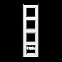 Jung A550 - Рамка 4-ая, цвет белый