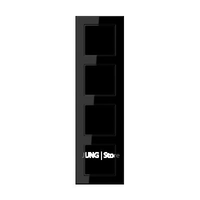 Jung A550 - Рамка 4-ая, цвет черный