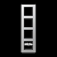 Jung A550 - Рамка 4-ая, цвет алюминий