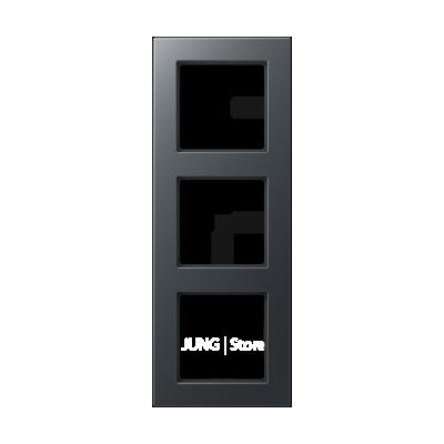 Jung A550 - Рамка 3-ая, цвет антрацит
