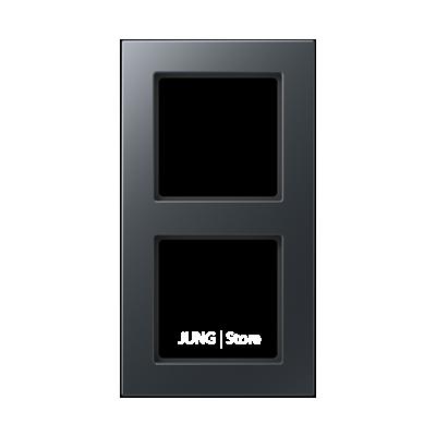 Jung A550 - Рамка 2-ая, цвет антрацит