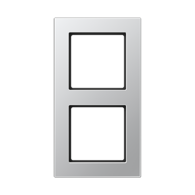 Jung A550 - Рамка 2-ая, цвет алюминий